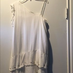 NWT Zara mini white dress